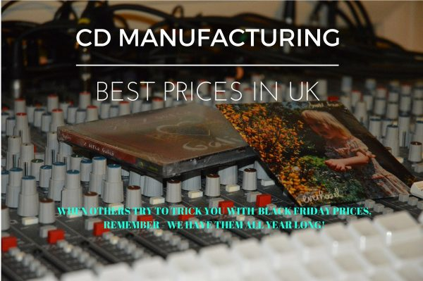 Our CD manufacturing division offers the best prices in UK.